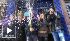 Personas agraciadas con la Lotería de Navidad.<br/>